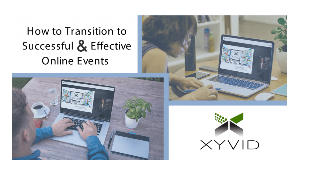 people in transition to online events